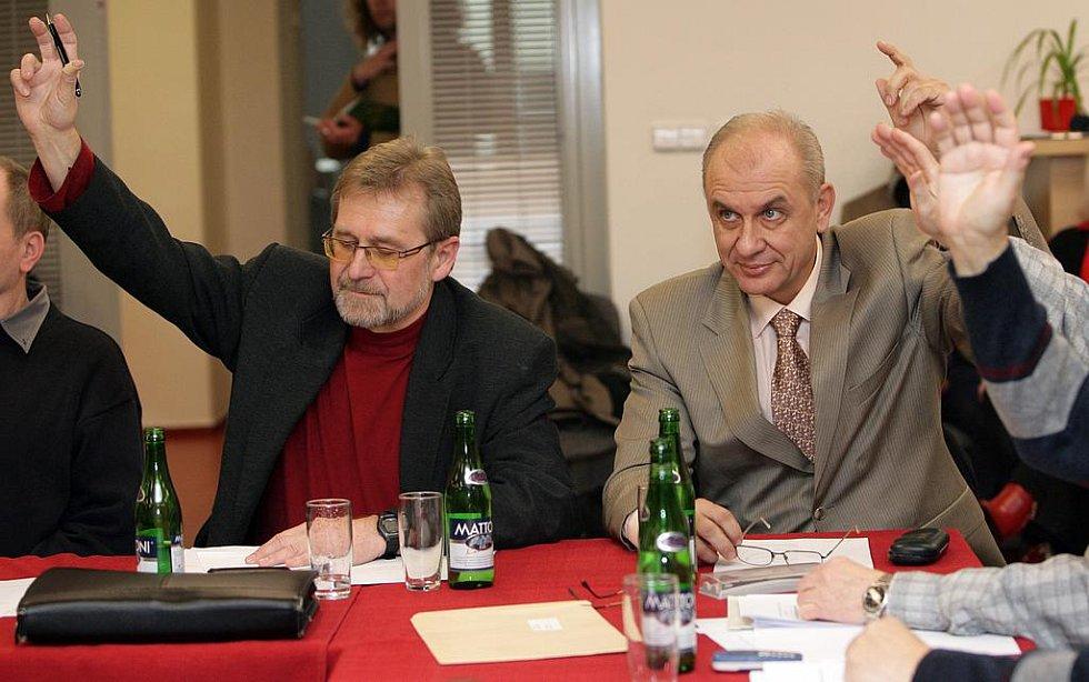 Zastupitelé Karel Doležal a Martin Hovorka.