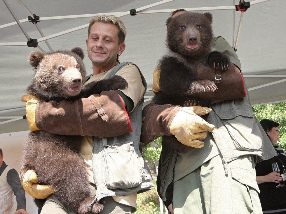 V brněnské zoo slavnostně pokřtili mláďata medvěda kamčatského. Lidé jim vybrali jména Kuba a Toby.