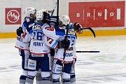 Brno 30.11.2018 - domácí HC Kometa Brno (bílá) proti HC Vítkovice (červená).