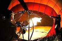 Let horkovzdušným balonem nad Brnem.