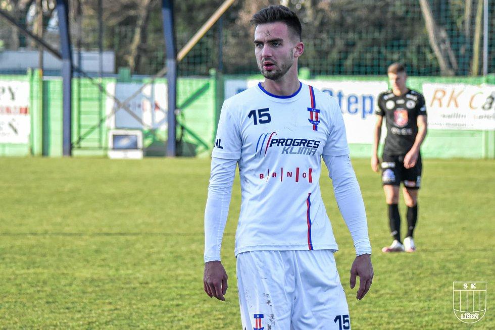 Fotbalista Martin Zikl odehrál za Líšeň v jarní části soutěže 343 minut.