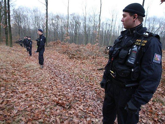 Cvičení policie v Marianském údolí.