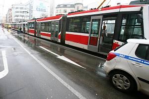 Kolona tramvají - Ilustrační fotografie.