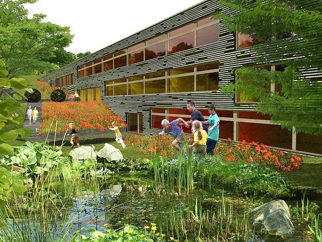Nové centrum, které zaujme nápaditým architektonickým řešením, má za úkoly vychovávat mladé lidi k ekologickém myšlení.