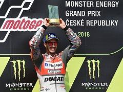 Vítěz Grand Prix v Brně Andrea Dovizioso