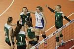 Volejbalistky Králova Pole ve čtvrtém semifinále porazily pražský Olymp 3:1 a stejným výsledkem ovládly také celou sérii.