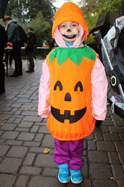 Necelá tisícovka lidí přišla v sobotu oslavit Halloween do brněnské zoo. Děti si mohly vydlabat svou dýni.