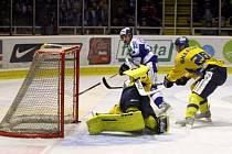 Hokejisté brněnské Komety proti Ústí