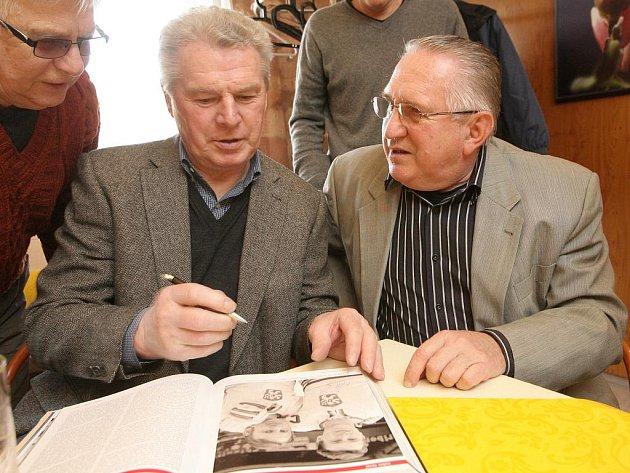 Setkání hokejových legend v Hustopečích - František Pospíšil a Milan Kokš