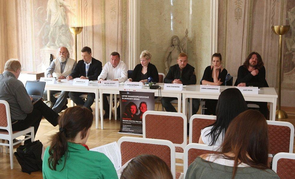 Tisková konference k Letním shakespearovským slavnostem v Brně.