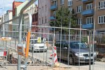 Dopravní omezení a práce v brněnské Křížkovského ulici.