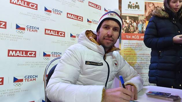 Olympijský festival v areálu brněnského výstaviště - tenista Radek Štěpánek.