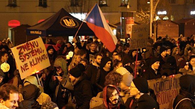 Studenti šli hlavou proti zdi, zaznělo na připomínce listopadových událostí
