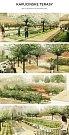 Vizualizace vzhledu Kapucínských zahrad pod Petrovem po opravách. Zahrady zpřístupní v roce 2018.