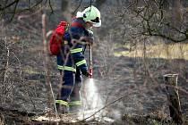 Sobotní požáry v Židlochovicích na Brněnsku.