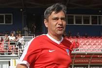 René Wagner na rozlučce Luboše Kaloudy na stadionu v Srbské ulici.