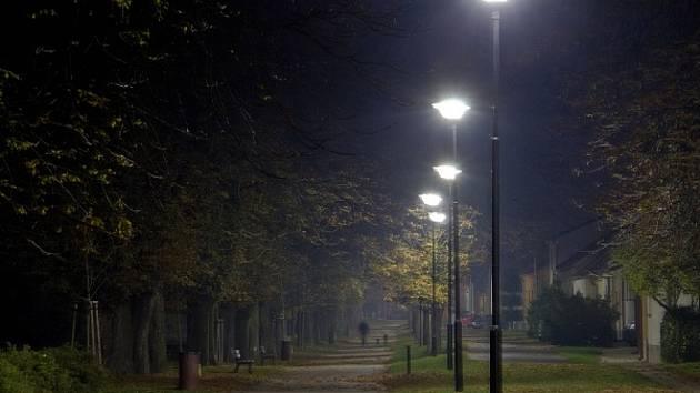Jírovcová alej na Zámecké ulici v Bučovicích. Jírovcová alej uprostřed městské zástavby, která má díky péči města Bučovice o 50% víc stromů než v době jejího vyhlášení za památnou.