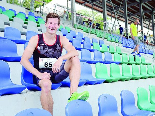 Brněnský atlet Martin Tuček.
