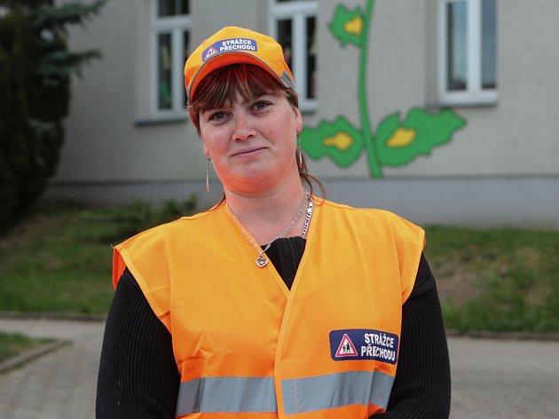 První brněnská strážkyně přechodu Martina Grimmová.