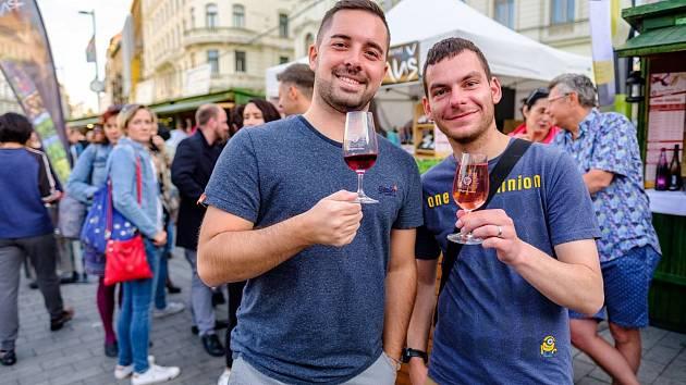 Food and Drink Fest na brněnském náměstí Svobody.