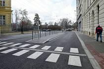 Trolejbusová konečná zastávka Česká v brněnské Brandlově ulici.