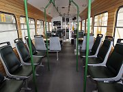 Pojízdná pivní tramvaj v Brně.