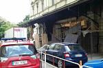 Požár kulisárny u Mahenova divadla v Brně. V pátek dopoledne divadlo přerušilo dětské představení, budovu musely opustit stovky lidí.