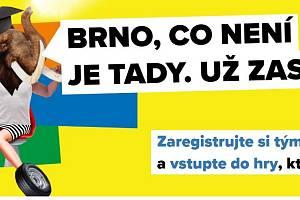 Logo kampaně Brno, co není, je tady