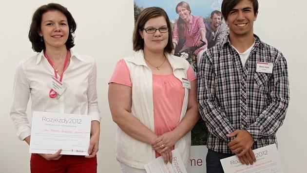 Soutěž Rozjezdy podporující regionální podnikatele na jižní Moravě vyhrála Elvíra Patáková (uprostřed).