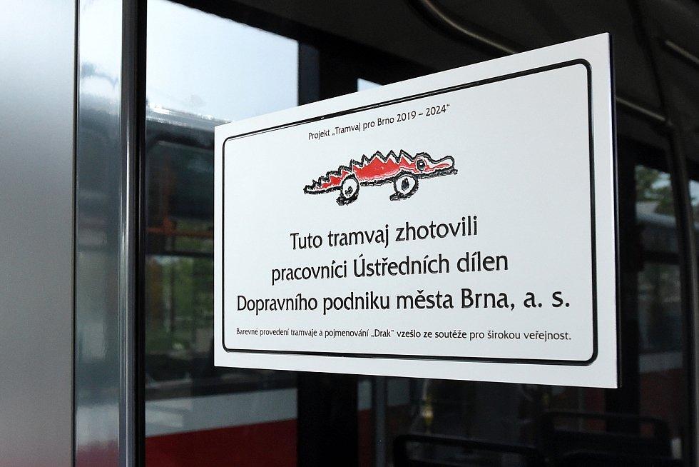 Brno 24.4.2020 - nová tramvaj Drak z projektu Tramvaj pro Brno