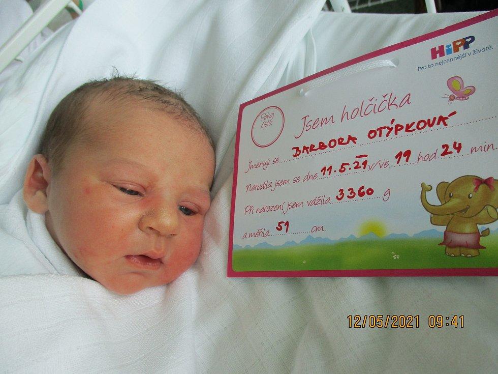 Barbora Otýpková, 11. května 2021, Vrbice, Nemocnice Břeclav, 3360 g, 51 cm