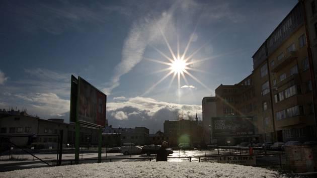 První letošní sněhová nadílka v Brně