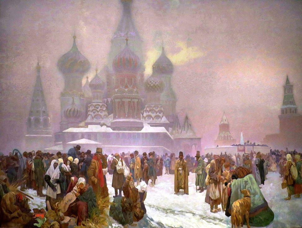 Zrušení nevolnictví na Rusi, Alfons Mucha.