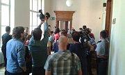 Soud s Dahlgrenem. Zájem médií je velký i při druhém dnu jednání.