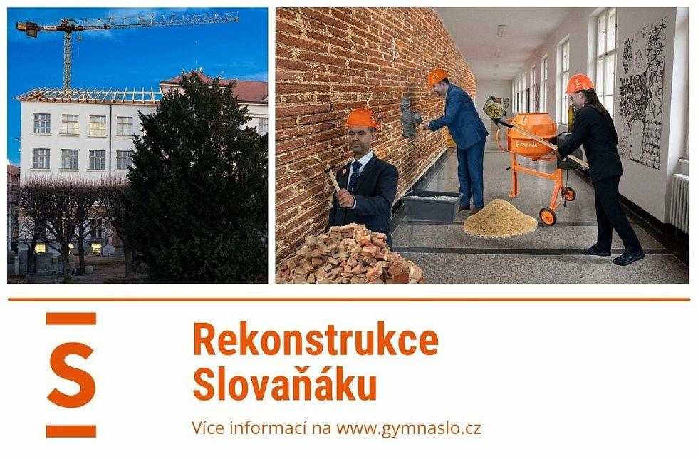 Kvůli rekonstrukci brněnského gymnázia na Slovanském náměstí se tam žáci vrátí až v roce 2022.