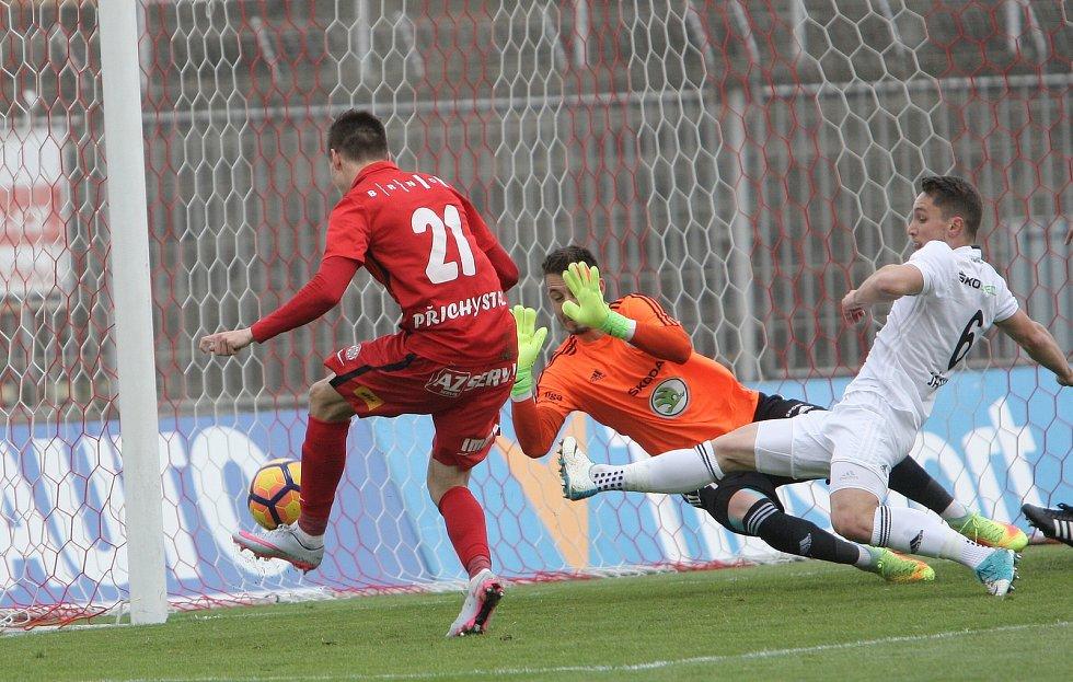 Brněnský Přichystal otevřel skóre zápasu. Fotbalisté Zbrojovky ale nakonec podlehli na domácím trávníku Mladé Boleslavi 2:3.