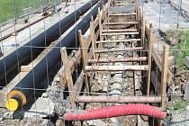 Stavba kanalizace. Ilustrační foto.