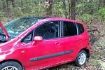 Nehoda osobního auta u Březiny na Vyškovsku.