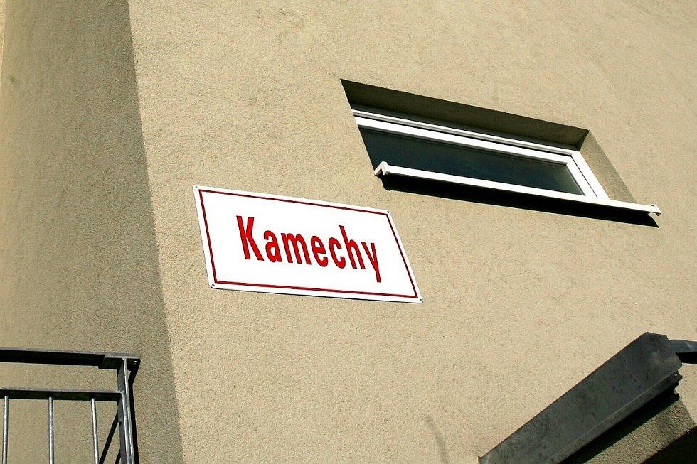 Pohled na sídliště Kamechy.