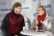 Olympijský festival v areálu brněnského výstaviště 19.2.2018. Na besedu s Deníkem dorazili krasobruslaři Kateřina Mrázová a Martin Šimeček.