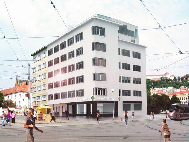 Vizualizace budovy na Mendlově náměstí.