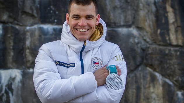 Český reprezentant v biatlonu Michal Krčmář. Snímek je z 1. března.