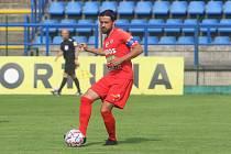 Fotbalisté Brna (v červeném Pavel Zavadil) v posledním přípravném zápase před novou sezonou remizovali se Zlínem.