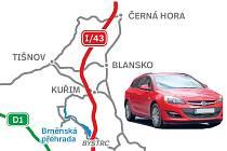 Trasa nové silnice 43 povede přes brněnskou Bystrc.