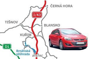 Trasa nové silnice 43 má vést přes brněnskou Bystrc.