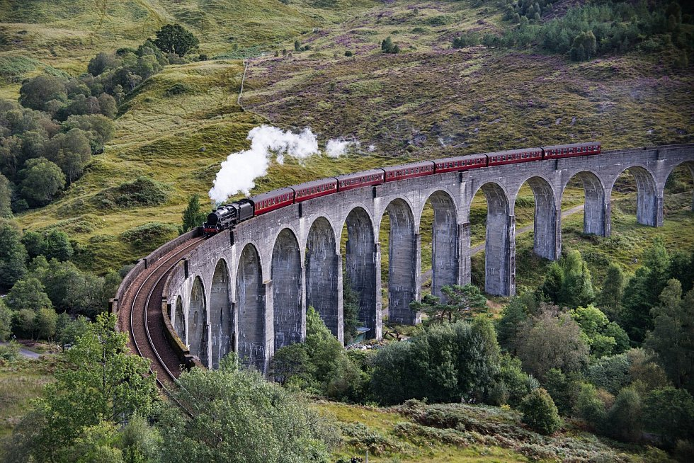 Železniční most ve Skotsku.
