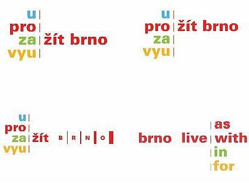 KONTROVERZNÍ SLOGAN. Autorka brněnského loga Věra Marešová představila návrhy na grafickou podobu sloganu Žít Brno. O navržených variantách se nyní bude diskutovat. Marešová městu navrhla i podobu sloganu pro cizince.