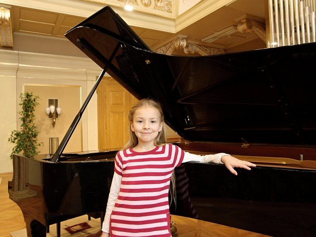 Vítězka ve druhé kategorii, sedmiletá Veronika Halíková z Brna.