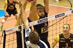 Brněnští volejbalisté v posledním extraligovém utkání základní části porazili Benátky nad Jizerou 3:0 na sety a ve čtvrtfinále se střetnou s Karlovarskem.