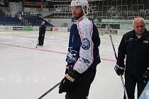 Hokejový útočník Martin Havlát na tréninku Komety Brno.